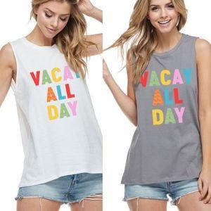 VACA LOVE Graphic Tee - Grey